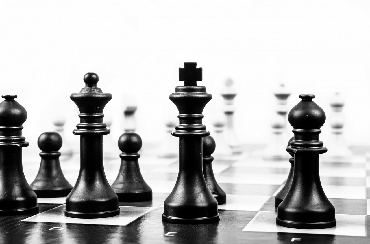 chess pieces on board strategy