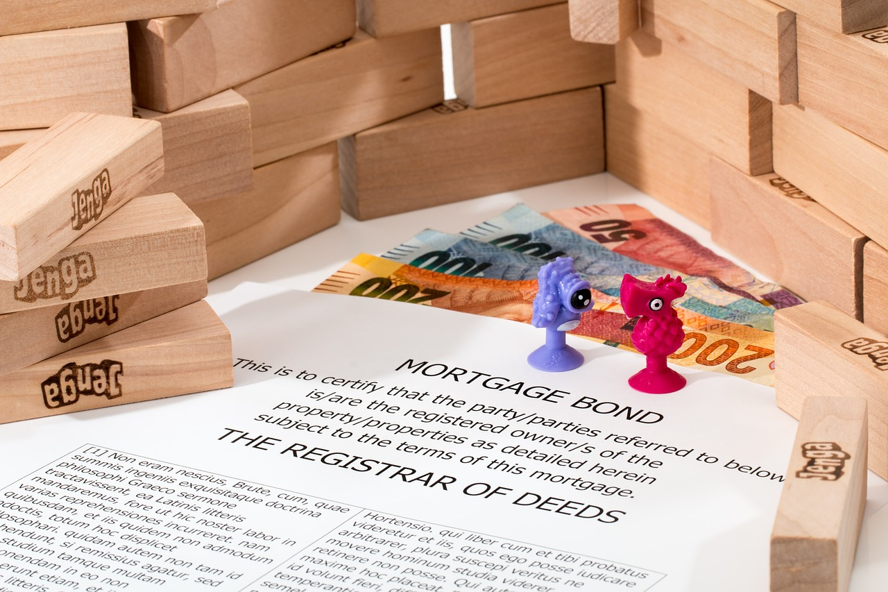 mortgage broking real estate jenga blocks